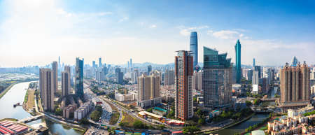 Foto de Shenzhen skyline panorama - Imagen libre de derechos