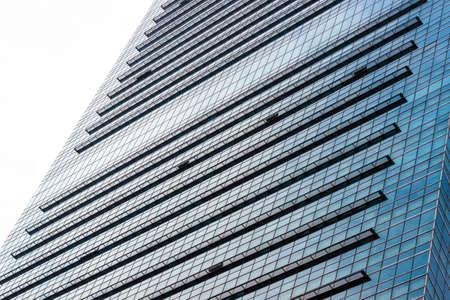 Foto de Look up to the external facade of modern financial architecture - Imagen libre de derechos