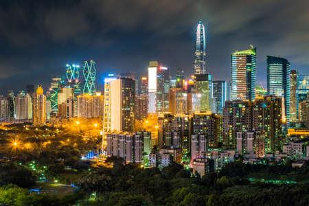 Foto de Night view of Shenzhen City - Imagen libre de derechos