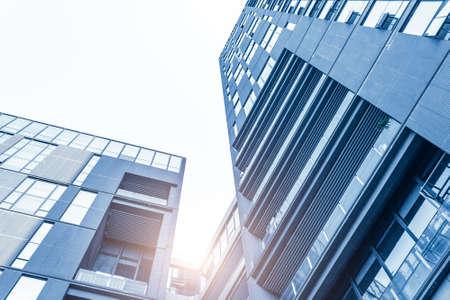 Foto de Look up to urban buildings from low angle of view - Imagen libre de derechos