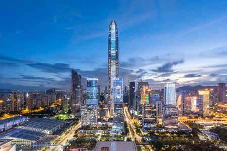 Photo pour Downtown skyline of Shenzhen - image libre de droit