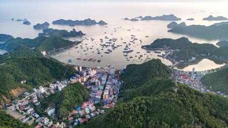 Photo for Cat Ba island from above. Lan Ha fly. Hai Phong city, Vietnam - Royalty Free Image