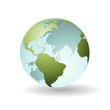 A Transparent Earth Globe, Sphere, Map