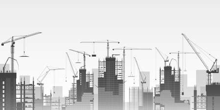 Foto per A Construction Site with Lots of Tower Cranes.  - Immagine Royalty Free