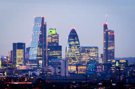 Photo pour London, skyline from Greenwich - image libre de droit