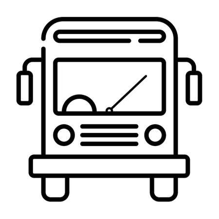 Illustration pour  school bus icon - image libre de droit