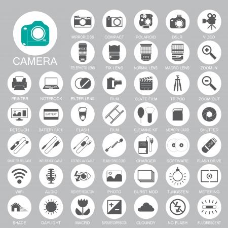 Illustration pour camera Photography icons - image libre de droit