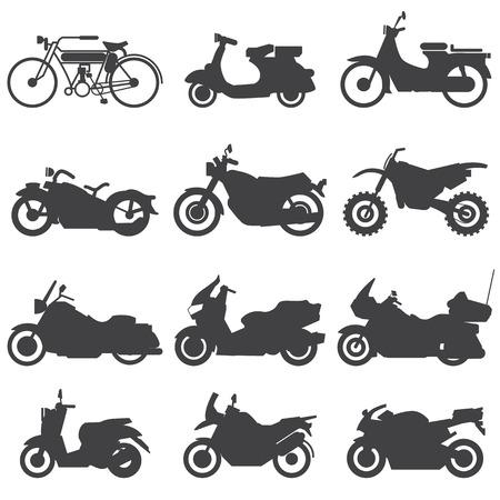 Illustration pour Motorcycle Icons set  Vector Illustration  - image libre de droit