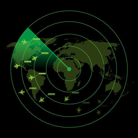 Illustration pour Air Traffic Control Radar - image libre de droit