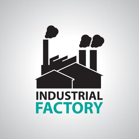 Ilustración de Industrial building factory Signs and Symbols - Imagen libre de derechos