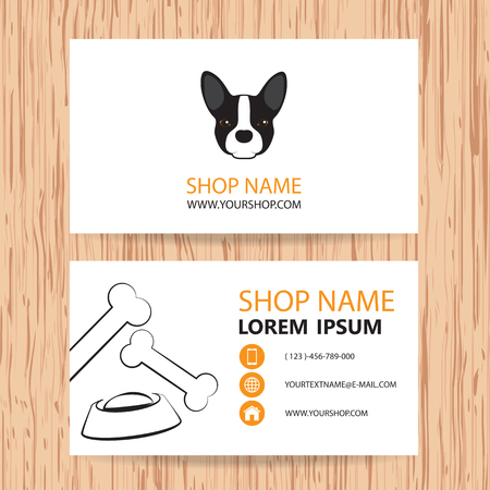 Business card vector background, Veterinary,shop animal feed