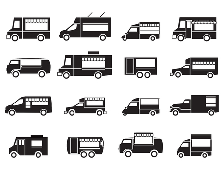 Illustration pour food truck icon set - image libre de droit