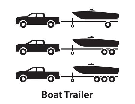 Illustration pour Boat trailers,symbol - image libre de droit