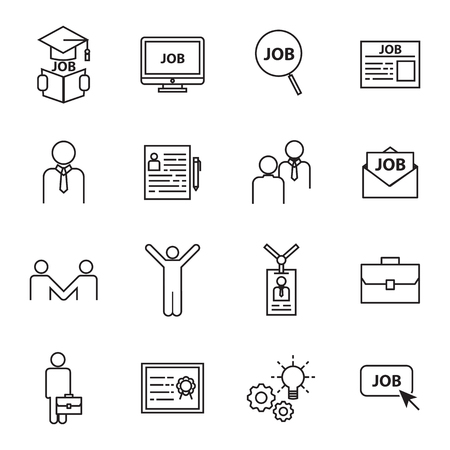 Illustration pour find a job icons - image libre de droit