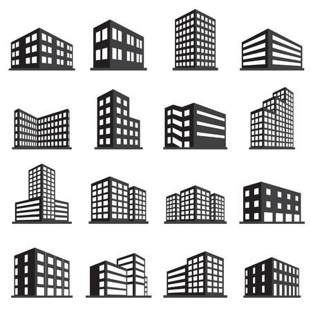 Illustration pour Buildings icon and office icon set - image libre de droit