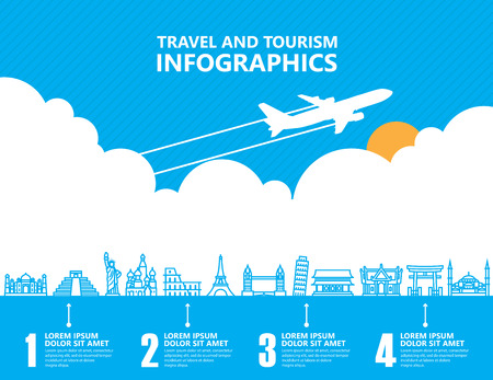Illustration for Travel infographics ,landmark and transport - Royalty Free Image