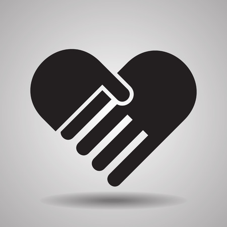 Illustration for Charity and love, handshake icons - Royalty Free Image
