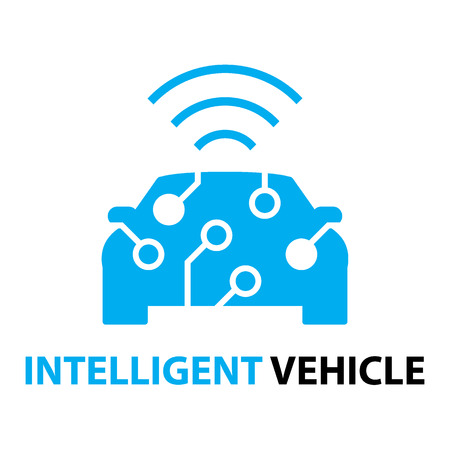Photo pour smart car,Intelligent Vehicle icon and symbol - image libre de droit