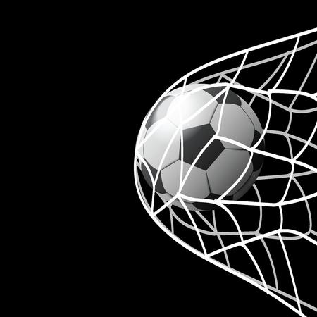 Ilustración de soccer ball in goal illustration - Imagen libre de derechos