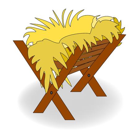 Illustration pour Christmas empty manger icon. - image libre de droit
