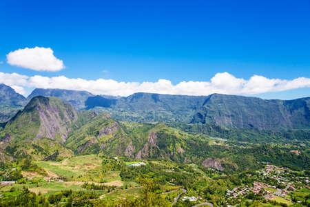 Foto de Cirque de Salazie seen from above, la Reunion Island - Imagen libre de derechos