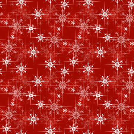 Ilustración de Christmas wrapping paper pattern, red background with snowflakes - Imagen libre de derechos