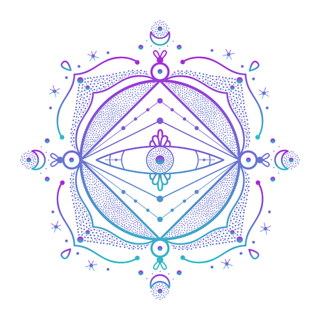 Illustration for Abstract ornament. Vector illustration of beautiful ornament. - Royalty Free Image