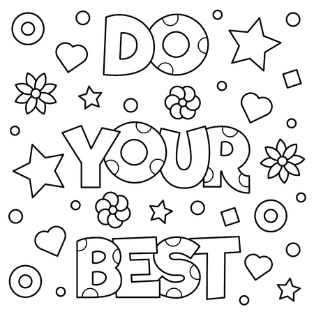 Illustration for Do your best. Coloring page. Vector illustration. - Royalty Free Image