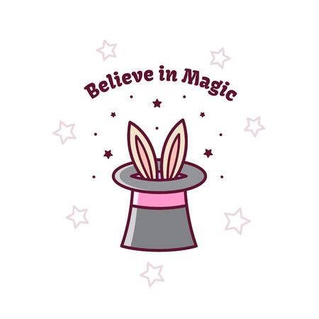 Illustration for Magical hat. Vector illustration. - Royalty Free Image
