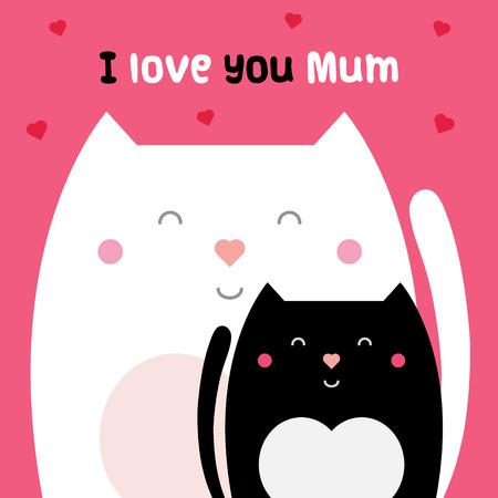 Illustrazione per I love you mum. Vector illustration. - Immagini Royalty Free