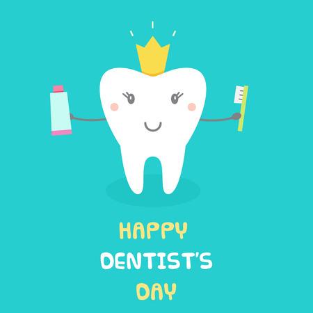 Ilustración de Happy Dentists Day. Vector illustration. - Imagen libre de derechos