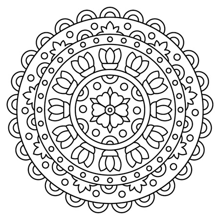 Illustration for Mandala. Coloring page. Vector illustration. - Royalty Free Image