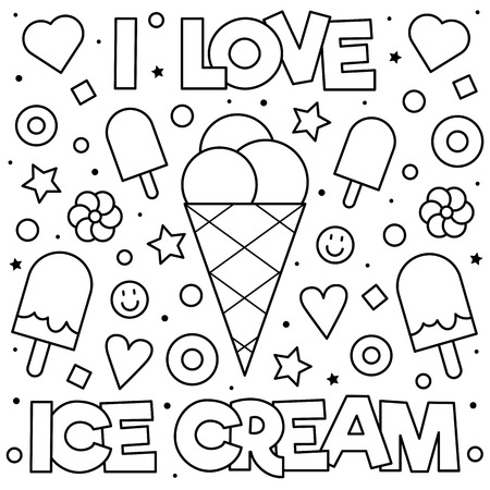 Illustration for Coloring page. Vector illustration. - Royalty Free Image