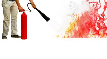 Photo pour fire extinguisher - Stock Image - image libre de droit