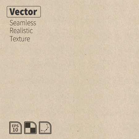 Ilustración de Vector seamless cardboard texture  Phototexture for your design - Imagen libre de derechos