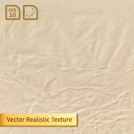 Illustration pour Crumpled paper sheet. Wrapping-paper texture. Realistic vector texture for your design. - image libre de droit
