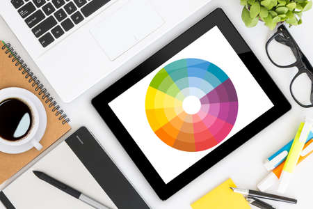 Photo for creative graphic design's desk - Royalty Free Image