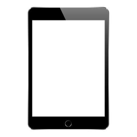 Illustration pour mock up black tablet isolated on white vector design - image libre de droit