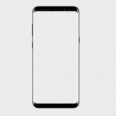 Illustration for smart phone vector drawing isolated transparent background - Royalty Free Image