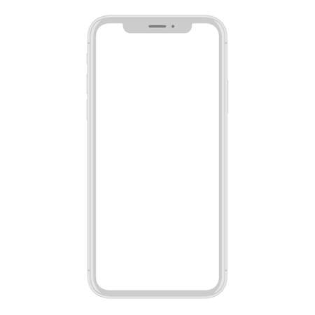 Illustration pour New smart phone mobile vector drawing on white background - image libre de droit