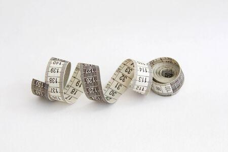 Photo pour sewing tailor measuring tape on white background - image libre de droit