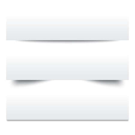 Ilustración de Paper shadows. Collection of white note papers. Paper separators, dividers. Page delimiters. Vector illustration. - Imagen libre de derechos