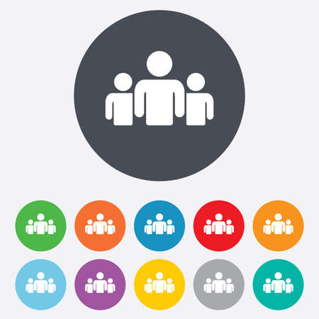 Illustration pour Group of people sign icon - image libre de droit