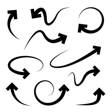Ilustración de Curved arrows set - Imagen libre de derechos