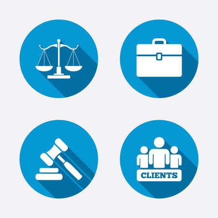 Illustration pour Scales of Justice icon - image libre de droit