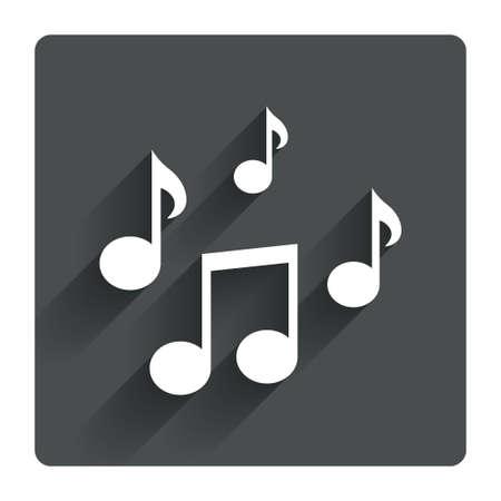 Illustration pour Music notes sign icon - image libre de droit