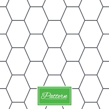 Illustration pour Hex lines grid texture. Stripped geometric seamless pattern. Modern repeating stylish texture. Abstract minimal pattern background. Vector - image libre de droit