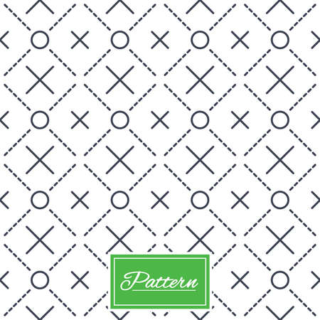 Ilustración de Circles grid texture. Stripped geometric seamless pattern. Modern repeating stylish texture. Abstract minimal pattern background. Vector - Imagen libre de derechos