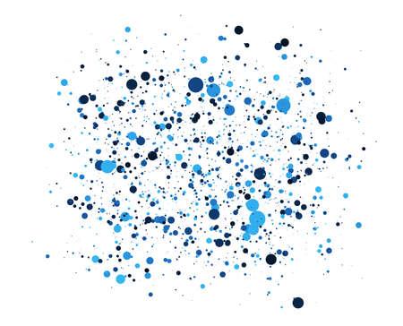 Illustration pour Abstract Blue Circles background. Random positioning of elements. Creative geometric backdrop. Colored dotted or bubbles design. - image libre de droit