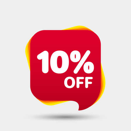 Illustration pour 10 Percent Off Sale Discount Banner. Price tag. Special offer sale red label. Modern Sticker. Vector Illustration. - image libre de droit